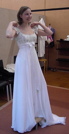 Und wir hatten ja wirklich eine strahlende, wunderschöne Braut! Und ...